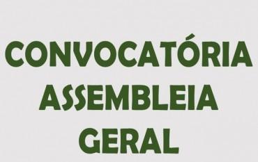 Convocatória Assembleia Geral Ordinária 25-11-2018